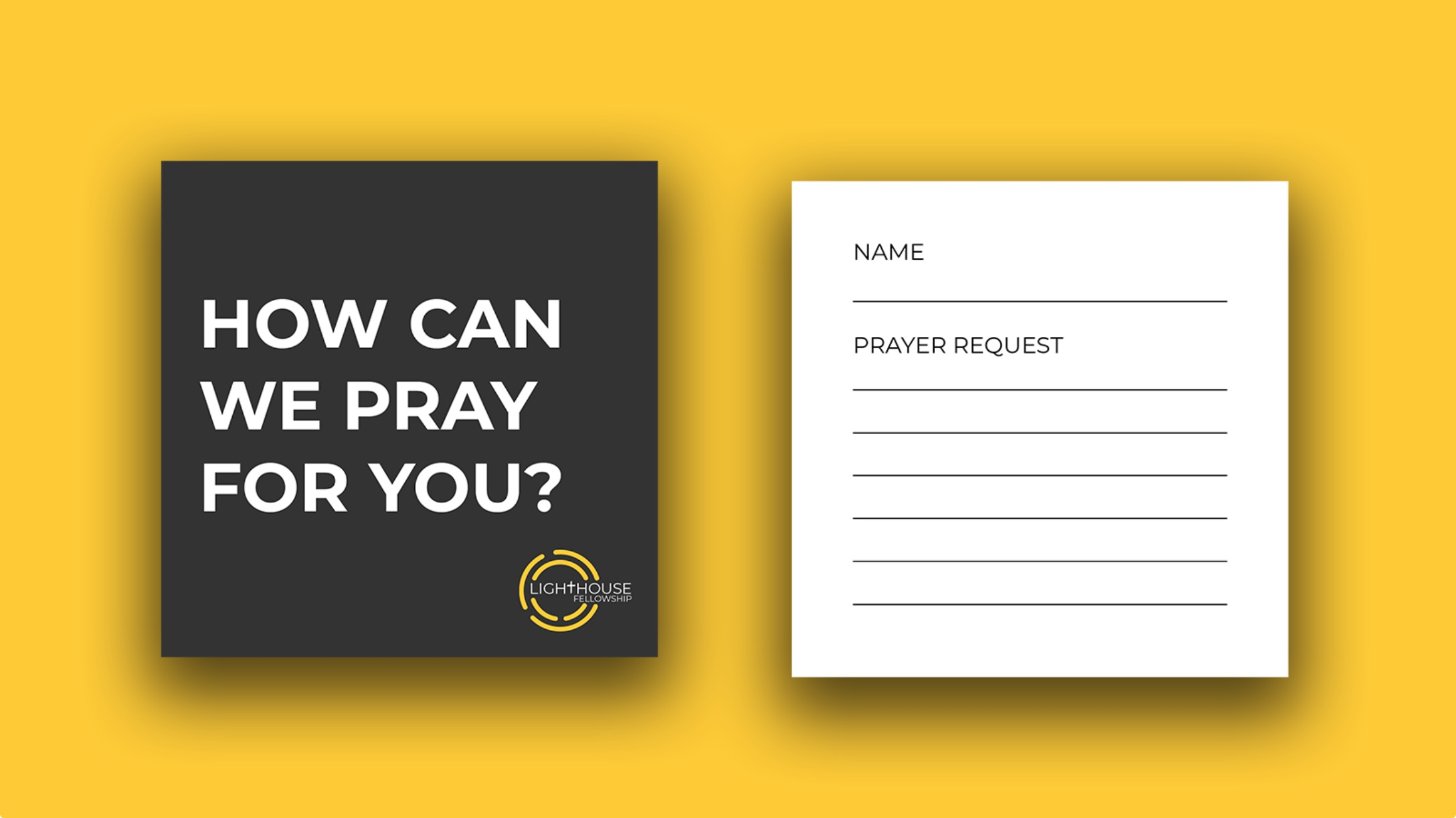 Design of prayer request cards for Lighthouse Fellowship
