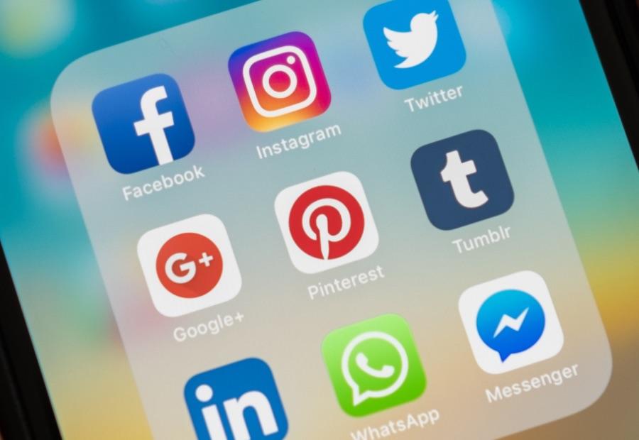 Phone screenshot of popular social media platforms