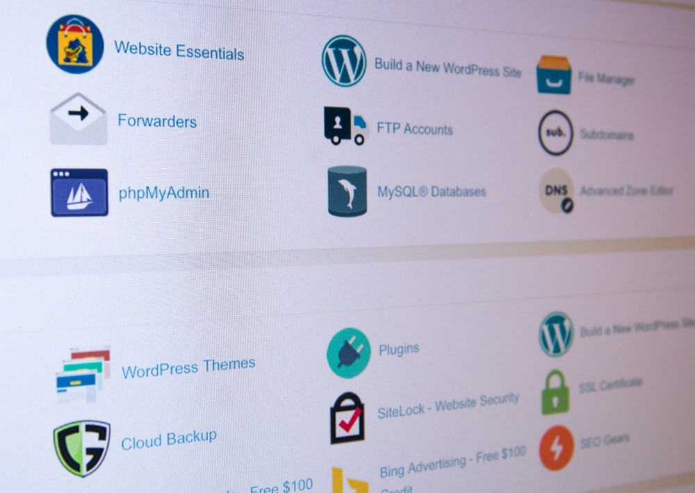 Available apps in cPanel