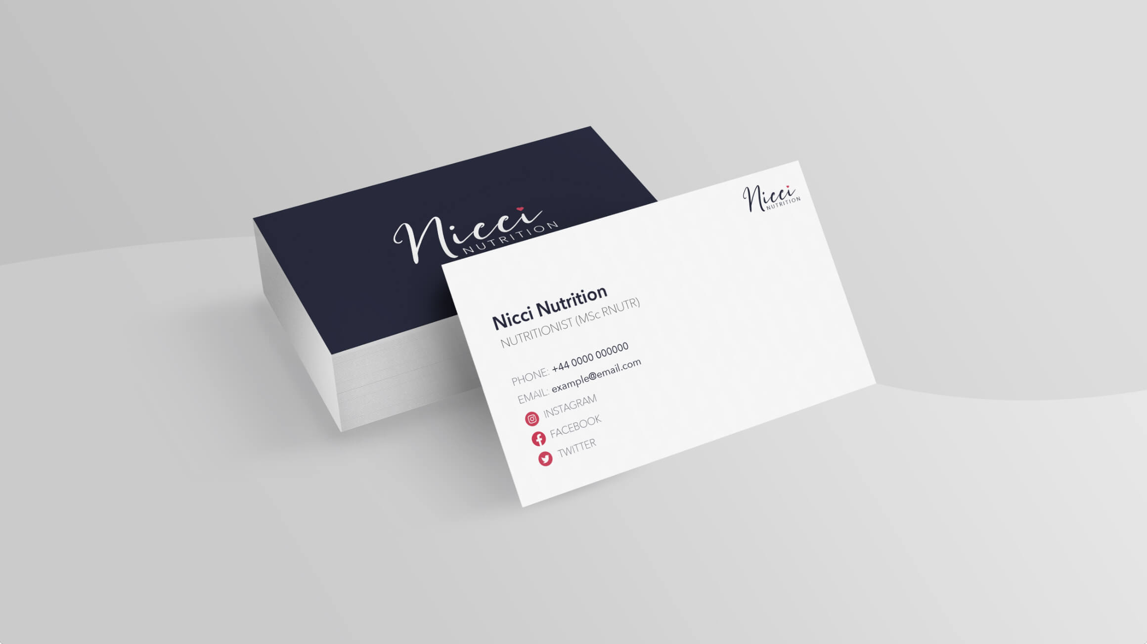 Nicci Nutrition Business Cards
