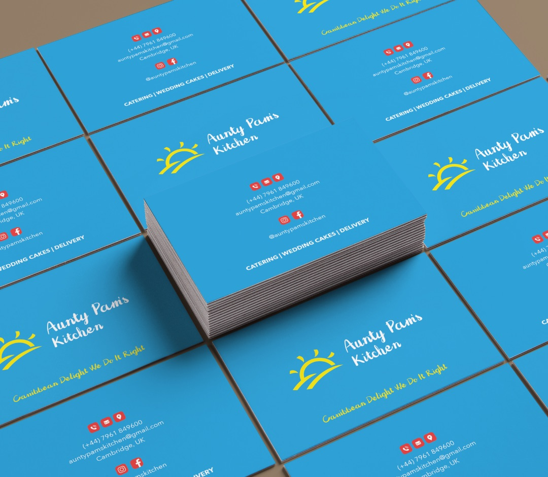 Aunty Pam's Kitchen Business Cards