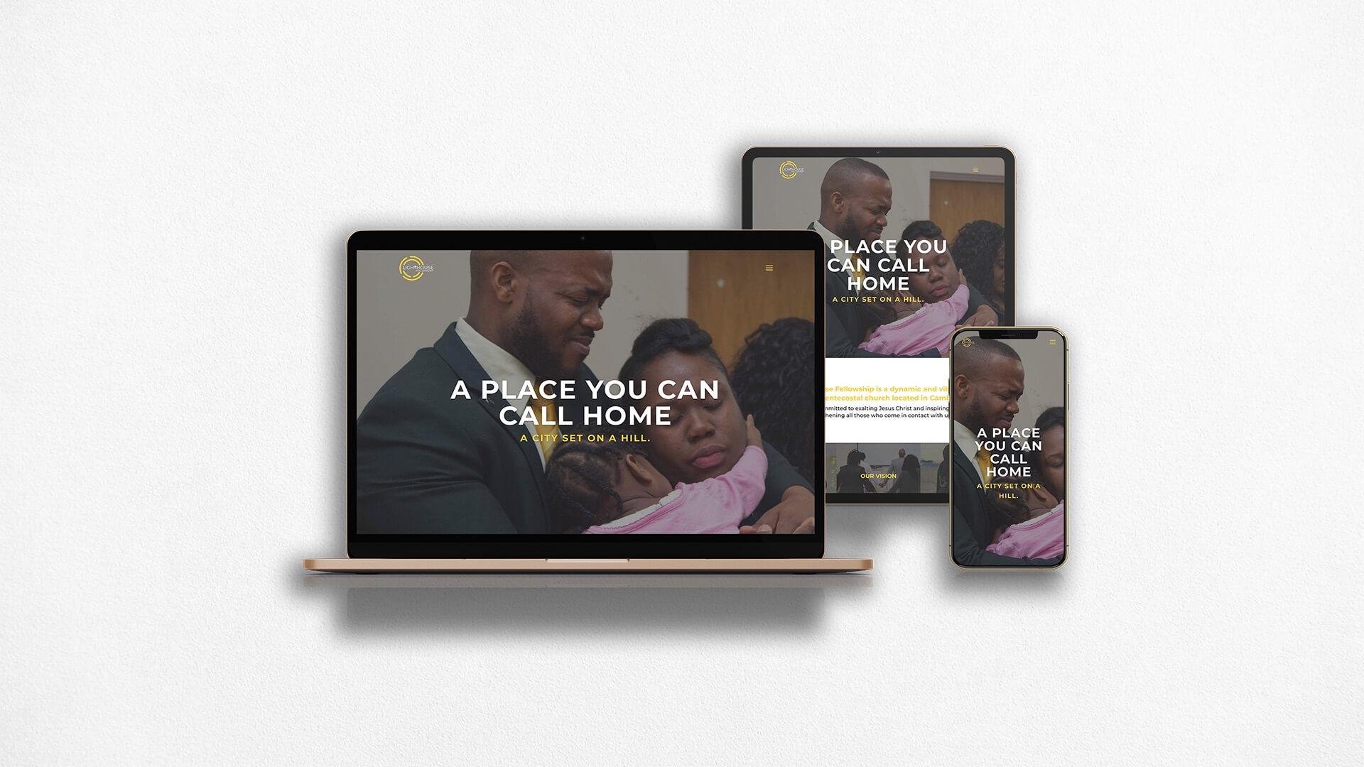 Lighthouse Fellowship Website Multiscreen